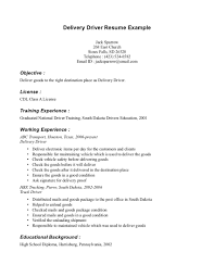 Resume Taxi Driver Sample Example Experience