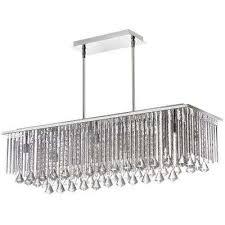 jacqueline 10 light polished chrome crystal horizontal chandelier