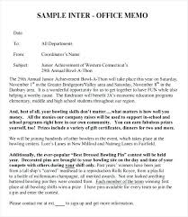 Example Of An Interoffice Memo Basic Office Memo Example Interoffice