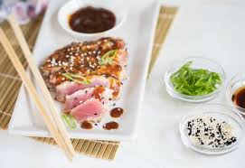 grilled tuna steaks with sesame seeds