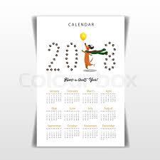 creative calendar. Unique Creative Stock Vector Of U0027Creative Calendar 2018 With Cute Cartoon Skating  Dachshund Flat Colored Illustration Inside Creative Calendar 1