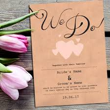 Wedding Invitation With Photo A6 Wedding Invitations