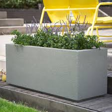 garden plant pots for sale. poly-stone milan tall trough 4-ft. outdoor planter | hayneedle garden plant pots for sale r