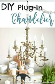chandeliers that plug in plug in chandelier change an old fixture into a gorgeous plug in chandeliers that plug in