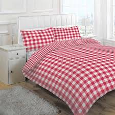 linens limited large tonal gingham duvet cover set red double