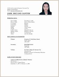 Sample Curriculum Vitae For Job Application Resumele Applying Job Fascinating Format Of For Application To