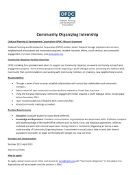Community Organizer Intern Job Description By Oakland Planning And ...