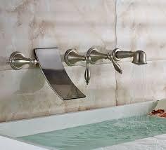 brushed nickel wall mount waterfall tub