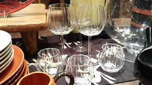 pottery barn wine glasses pumpkin glasses pottery barn wine glass chandelier reviews