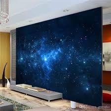 blue galaxy wall mural beautiful nightsky photo wallpaper custom silk wallpaper art painting room decor children room bedroom living room hd wallpapers hd
