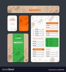 Restaurant Design Brief Example Cafe Or Restaurant Identity Template