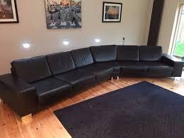 designer bo concept indivi black leather modern corner sofa suite 7500 new