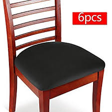 kitchen chair seat covers. Boshen Elastic Spandex Chair Stretch Seat Covers Protector For Dining Room Kitchen Chairs Stretchable 2 4 6PCS (Black, 6) C