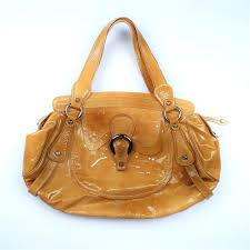 francesco biasia yellow tan patent leather and 16 similar items s l1600