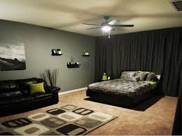 cool guys bedroom with black curtain combined ceiling fan on light brown painted color wheel
