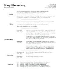 Basic Resume Examples For Students A Simple Resume Sample Basic