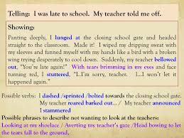 show me don t tell me descriptive paragraphs writing exercise descriptive paragraphs writing exercise