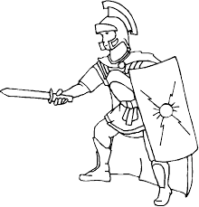 Coloring Centurion Roman Soldier Picture Coloring Home