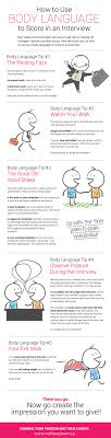 body language tips that will get you the interview infographic