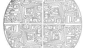 Maze Coloring Pages Printable Difficult Coloring Pages Advanced ...