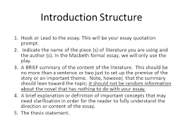 formal essay workshop the introduction ppt  introduction structure
