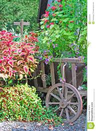 outdoor garden flower wagon flower wagon in garden royalty free stock images image 20495539