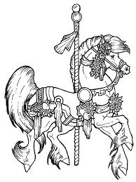 Small Picture Carousel Horse Coloring Pages To Print Coloring Pages