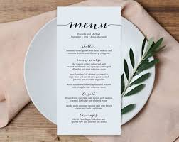 Formal Dinner Menu Template Stunning Wedding Menu Printable Template Printable Menu Menu Template