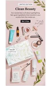 birchbox limited edition clean beauty box available now coupon