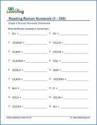 Grade 4 Roman Numerals Worksheets Free Printable K5