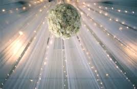 ... Tulle Ceiling Decoration ...