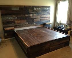 reclaimed wood bed frame. Reclaimed Wood Bed Frame King Platform Within The Fool Inspirations Grey Beds Gray Size A