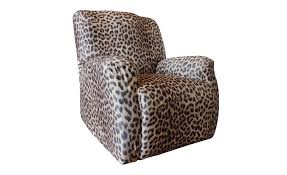 animal print dining chair covers recliner leopard print sofa cover by sure fit about black set