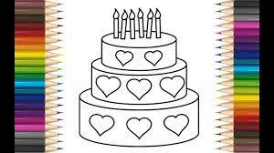 Hướng dẫn vẽ và tô màu bánh sinh nhật đơn giản 2020 l ĐCN Vlogs mới nhất  2021 - Vẽ.vn