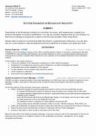 Broadcast Engineering Sample Resume Broadcast Project Manager Cover Letter Awesome Broadcast Engineering 1