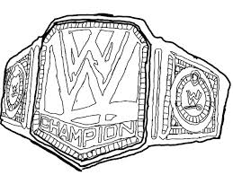 Small Picture Coloring Download Wwe Belt Coloring Pages Wwe Belt Coloring