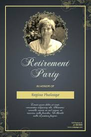 Free Retirement Announcement Flyer Template Retirement Party Flyer Template Invitation Templates For