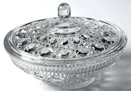 glass candy dish with lid candy dish with lid clear by federal glass