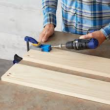 locate and drill the pocket holes for the top and bottom rail