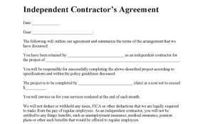 independent contract template independent contractor agreement contractor agreement contract forms