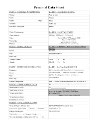 Personal Information Sheets Personal Data Sheet Form Images Personal Information Sheet Legal