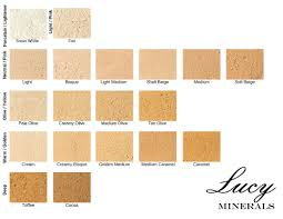Foundation Match Chart Finding Your Perfect Match With Lucy Minerals Lucy Minerals
