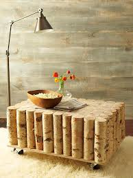 create a natural looking coffee table that is unique interesting and will grab the attention of your guests