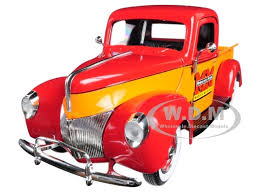 1940 Ford Minneapolis Moline Pickup Truck Orange Red 1/25 Diecast ...