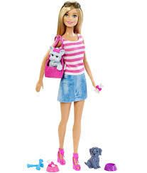 barbie doll pets set