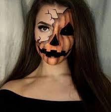 makeup and pumpkin image pumpkin makeup face paint scary
