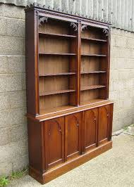 vintage library | ANTIQUE FURNITURE WAREHOUSE - Antique Victorian Oak Library  Bookcase .