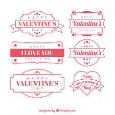 vine valentine s day label badge collection free vector