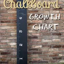 Create Your Own Chalk Board Ruler Growth Chart Diy