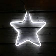Weihnachtsstern 30x30cm Neon Stern Für Fenster Aussen 120 Led Kaltweiß